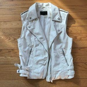 White H&M Faux Leather Vest sz 8